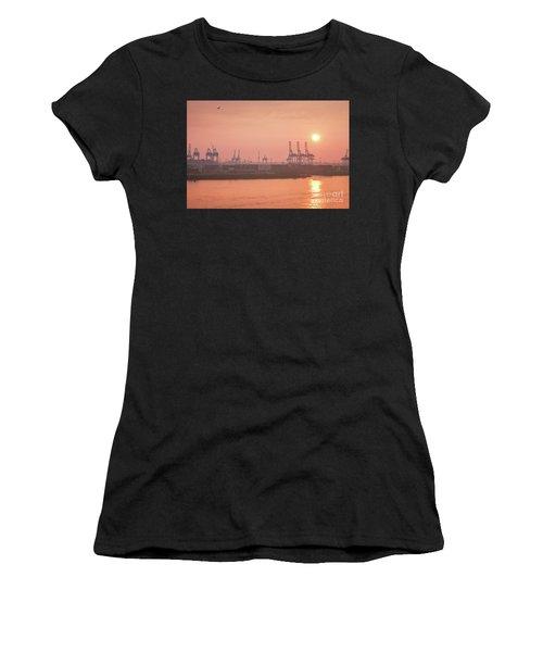 Golden Hour On The Elbe Women's T-Shirt