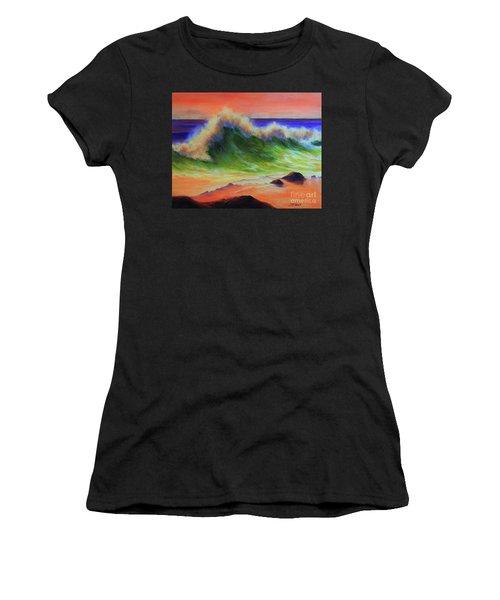 Golden Hour Sea Women's T-Shirt (Athletic Fit)