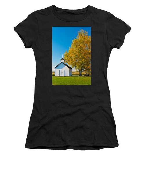 Golden In Autumn Women's T-Shirt (Athletic Fit)