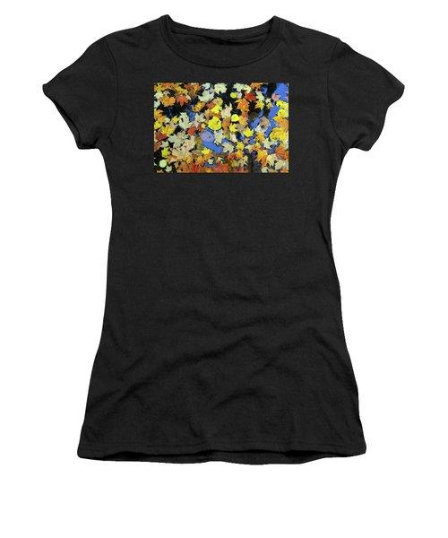 Golden Maple Leaves On Water Women's T-Shirt