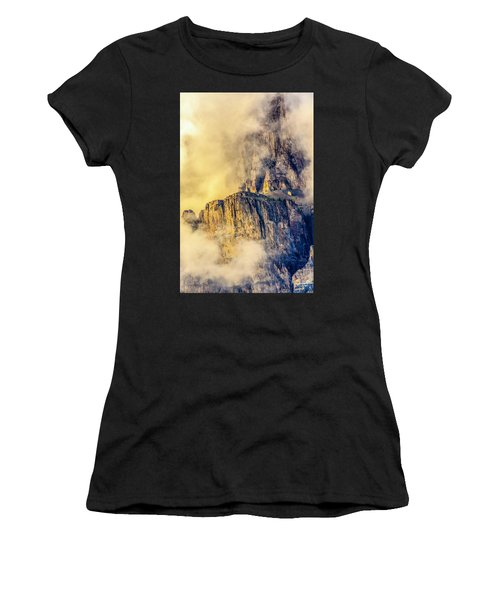 Golden Mist On Cathedral Mountain Women's T-Shirt (Athletic Fit)
