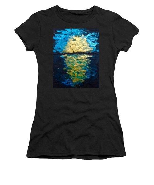 Golden Moon Reflection Women's T-Shirt