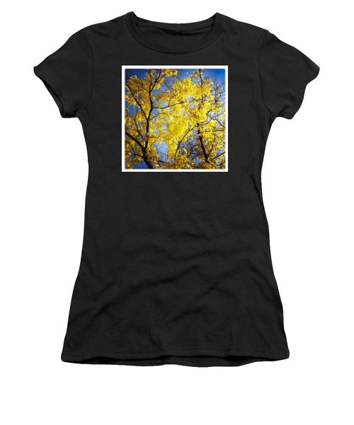 Golden October Tree In Fall Women's T-Shirt