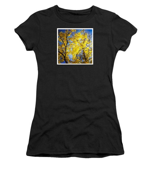Golden October Tree In Fall Women's T-Shirt (Athletic Fit)