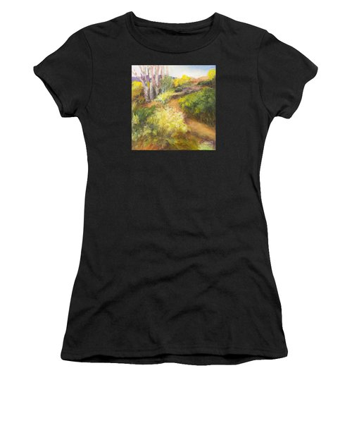 Golden Pathway Women's T-Shirt (Athletic Fit)