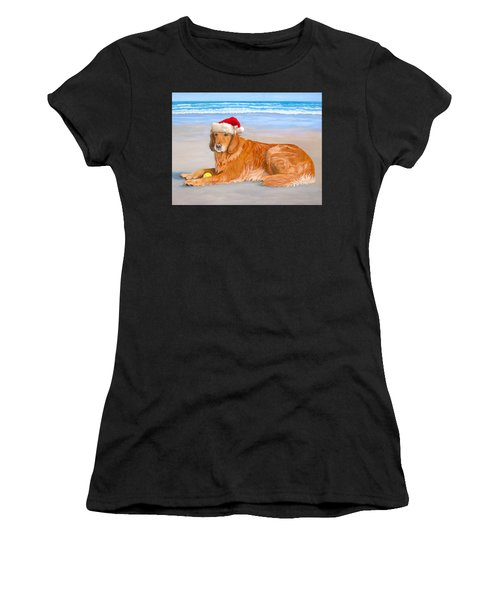 Golden Retreiver Holiday Card Women's T-Shirt