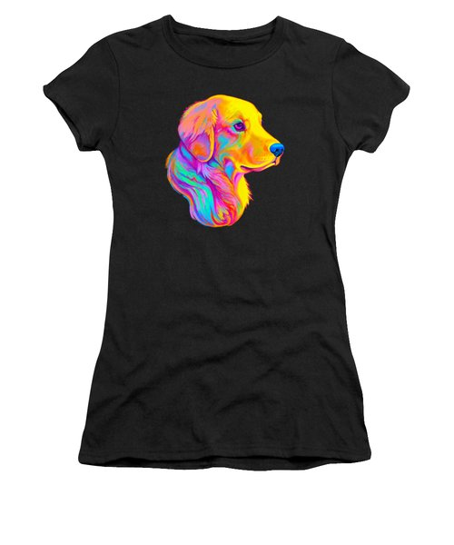 Golden Retriever In Colors Women's T-Shirt