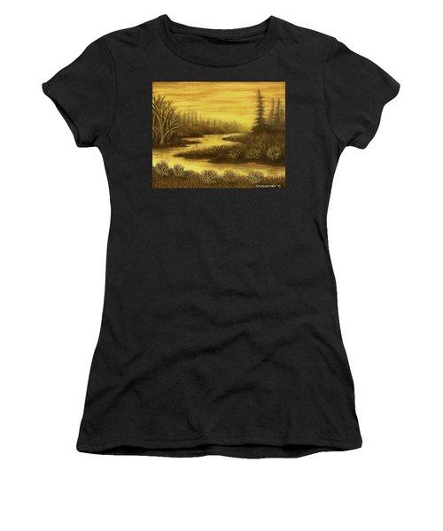 Golden River 01 Women's T-Shirt (Athletic Fit)