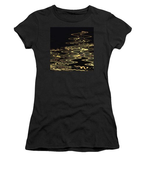 Golden Shimmers On A Dark Sea Women's T-Shirt (Athletic Fit)
