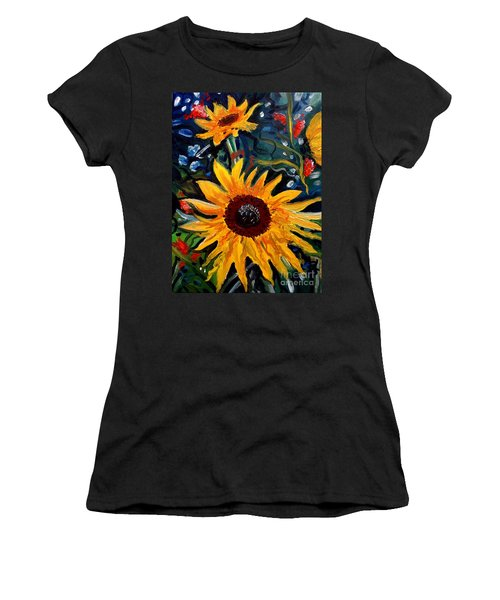 Golden Sunflower Burst Women's T-Shirt