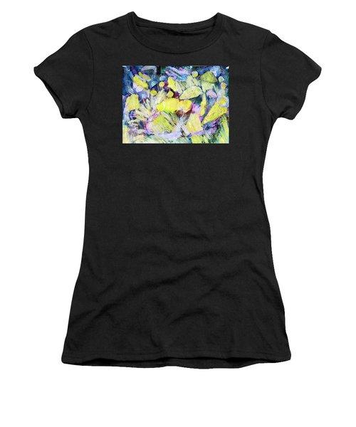 Golden Swirls Women's T-Shirt (Athletic Fit)