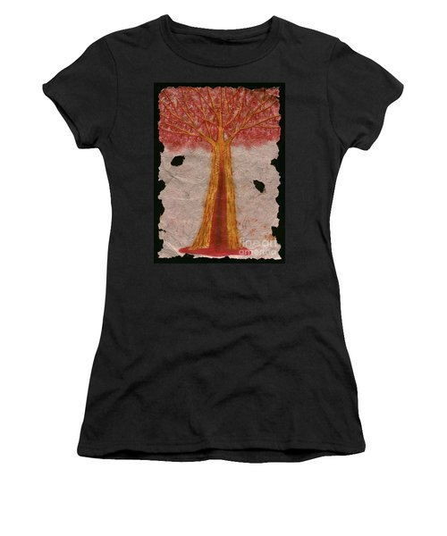 Golden Trees Crying Tears Of Blood Women's T-Shirt (Athletic Fit)