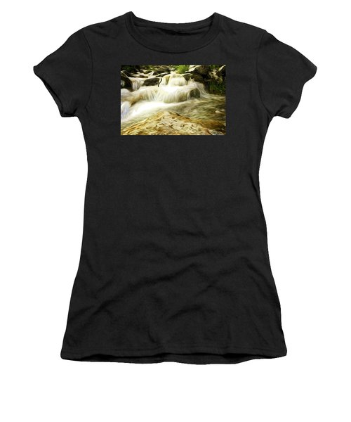 Golden Waterfall Women's T-Shirt (Athletic Fit)
