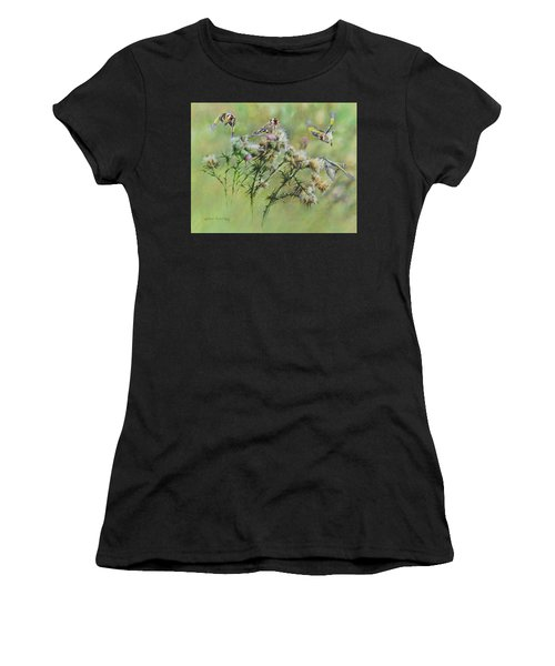 Goldfinches On Thistle Women's T-Shirt