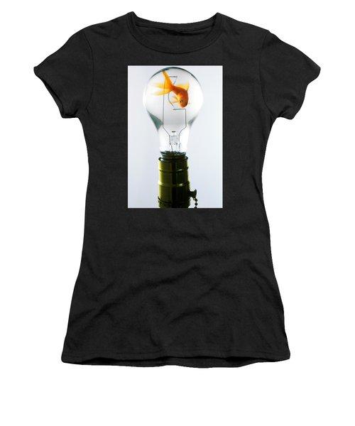 Goldfish In Light Bulb  Women's T-Shirt