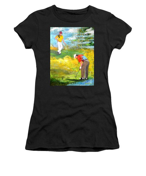 Golf Buddies #2 Women's T-Shirt (Athletic Fit)