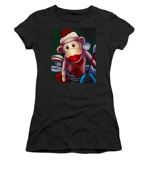 Golfer Made Of Sockies Women's T-Shirt (Athletic Fit)