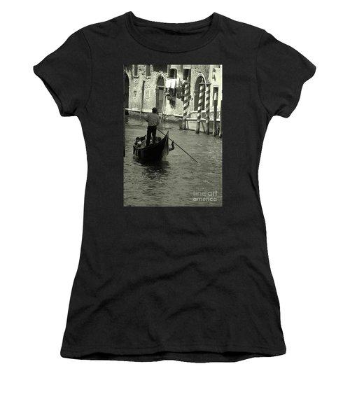 Gondolier In Venice   Women's T-Shirt
