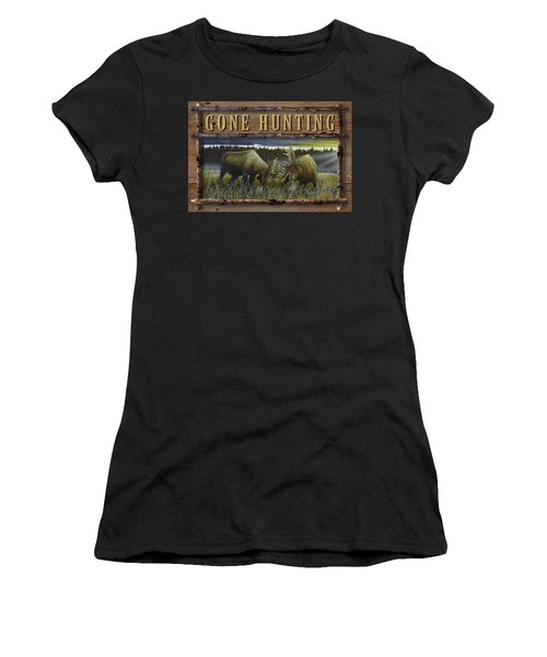 Gone Hunting - Locked At Lac Seul Women's T-Shirt