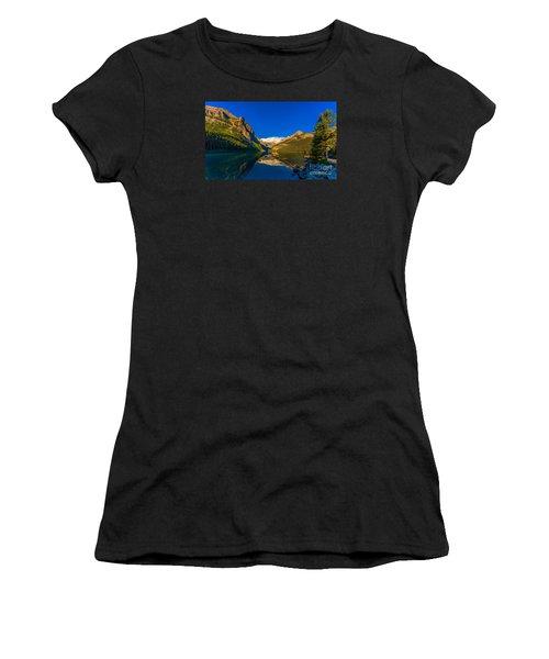 Good Morning Lake Louise Women's T-Shirt (Athletic Fit)