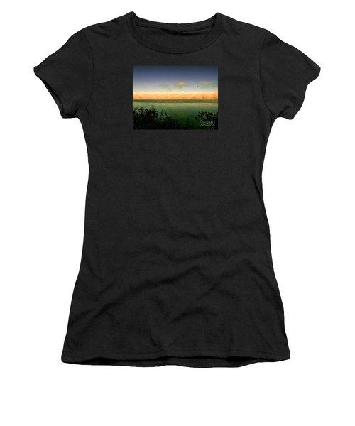 Women's T-Shirt (Junior Cut) featuring the photograph Good Morning Lake Winnisquam by Mim White