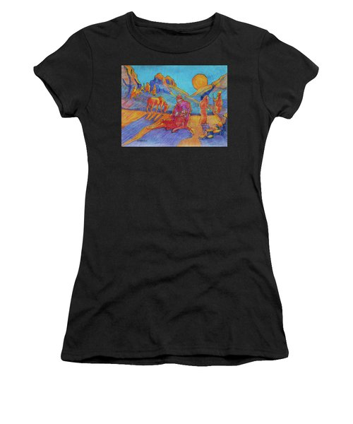 Good Samaritan Parable Painting Bertram Poole Women's T-Shirt (Athletic Fit)