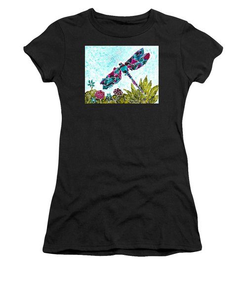 Women's T-Shirt featuring the painting Good Vibrations II by Kathryn Riley Parker