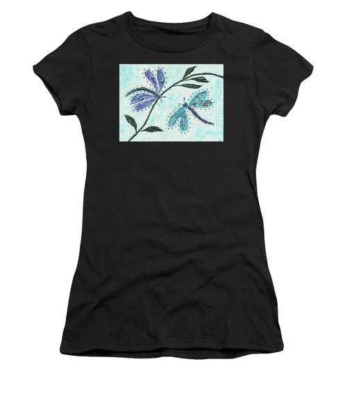 Women's T-Shirt featuring the painting Good Vibrations by Kathryn Riley Parker