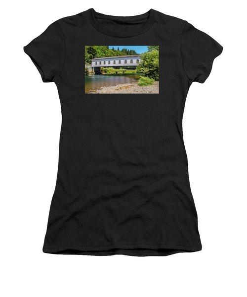 Goodpasture Covered Bridge Women's T-Shirt (Athletic Fit)
