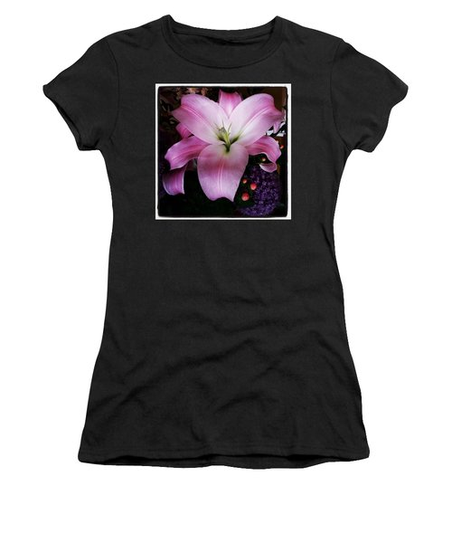 Women's T-Shirt featuring the photograph Gorgeous Flowers. Real. I Think They by Mr Photojimsf