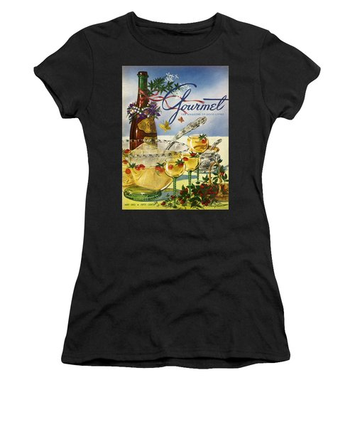 Gourmet Cover Featuring A Bowl And Glasses Women's T-Shirt