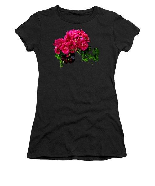 Graceful Geraniums Women's T-Shirt (Junior Cut)