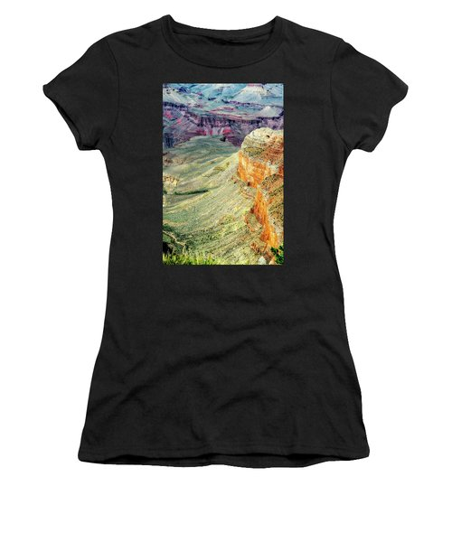 Grand Canyon Abstract Women's T-Shirt (Athletic Fit)