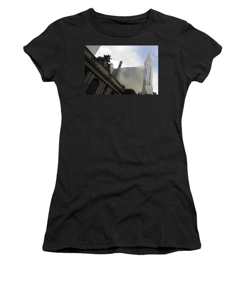 Grand Central And The Chrysler Building Women's T-Shirt (Athletic Fit)