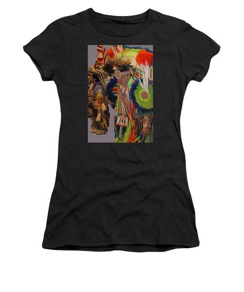 Grand Entry-3 Women's T-Shirt (Junior Cut) by Audrey Robillard