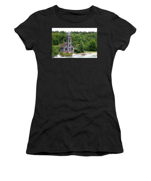 Grand Island East Channel Lighthouse #6680 Women's T-Shirt (Junior Cut) by Mark J Seefeldt