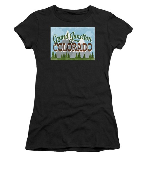 Grand Junction Colorado Snowy Mountains Women's T-Shirt