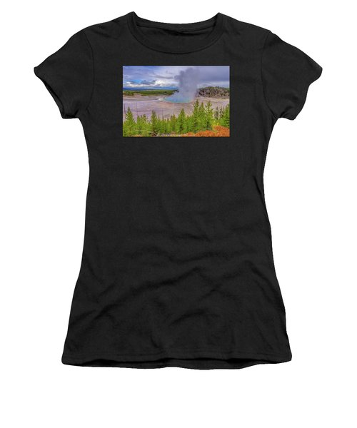 Grand Prismatic Spring Overlook Yellowstone Women's T-Shirt (Athletic Fit)