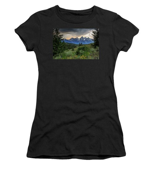Women's T-Shirt (Junior Cut) featuring the photograph Grand Stormy Sunset by David Chandler