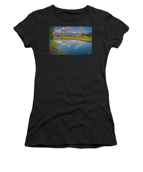 Grand Teton Morning Reflection Women's T-Shirt (Athletic Fit)