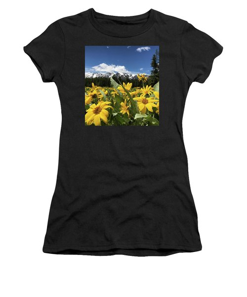 Grand Teton Mountains Women's T-Shirt (Athletic Fit)