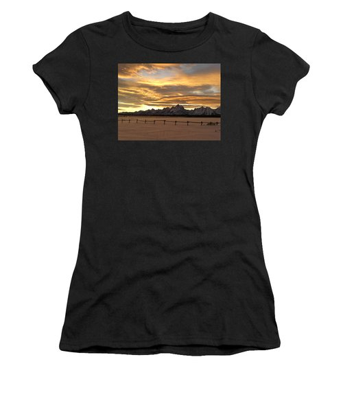 Grand Tetons In January Glory Women's T-Shirt (Athletic Fit)