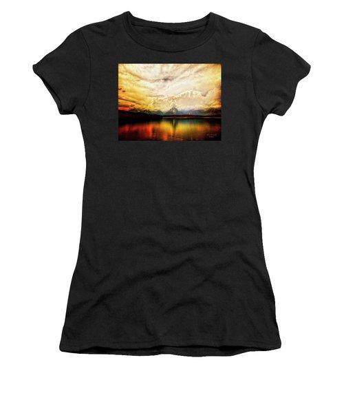 Grand Tetons - Jenny Lake No. 2 Women's T-Shirt (Athletic Fit)