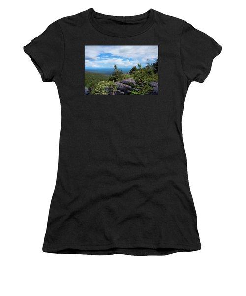 Grandfather Mountain Women's T-Shirt (Junior Cut) by Glenn Gemmell
