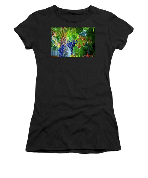 Grapes Women's T-Shirt (Athletic Fit)