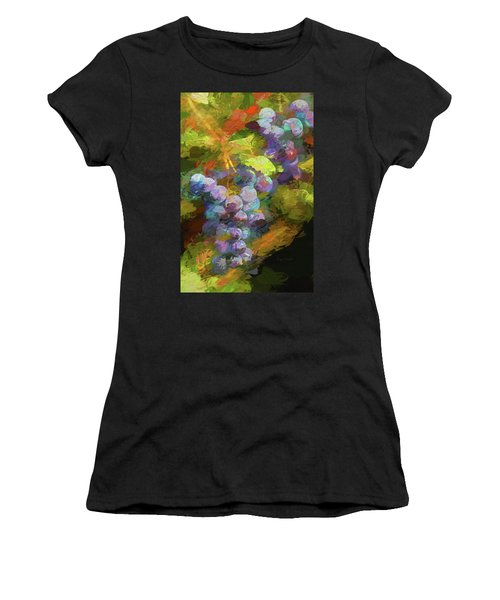 Grapes In Abstract Women's T-Shirt (Athletic Fit)