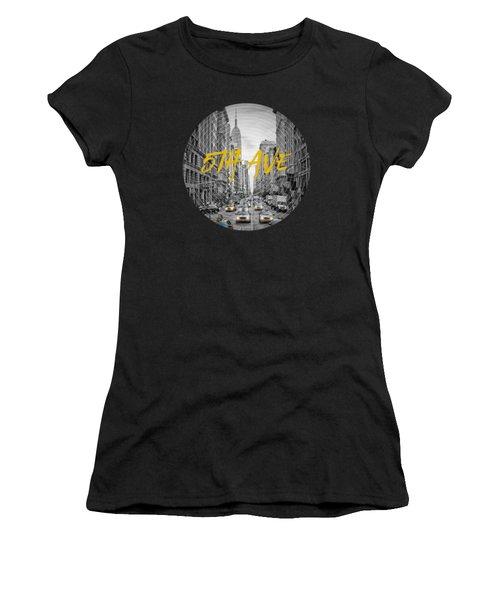 Graphic Art Nyc 5th Avenue Women's T-Shirt