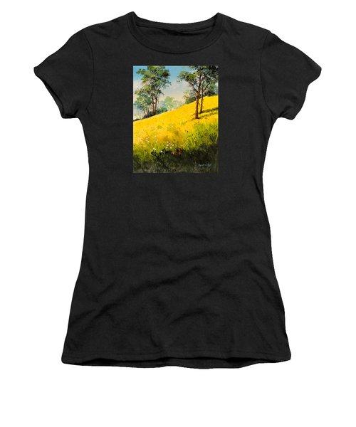 Grassy Hillside II Women's T-Shirt (Athletic Fit)