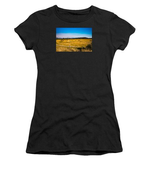 Grazing Horses Women's T-Shirt (Athletic Fit)