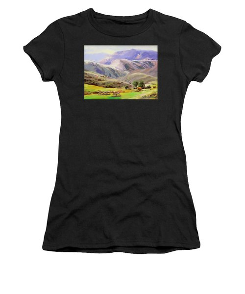 Grazing In The Salmon River Mountains Women's T-Shirt
